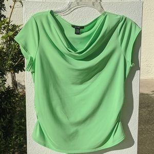 Alfani Key lime blouse with tapered sides.